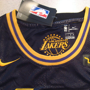 huge discount b1f8e ae8d5 Lebron James Lakers Black Swingman Wish Jersey NWT